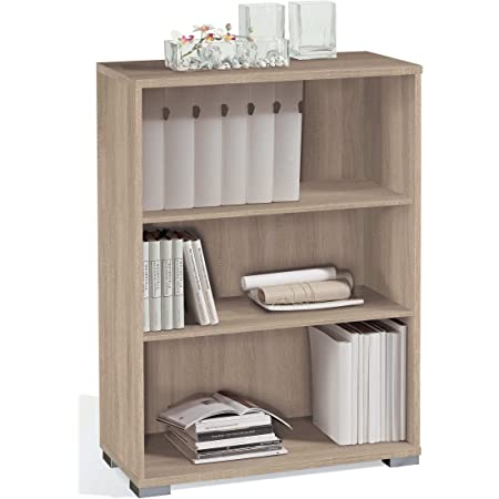 Abitti Estantería librería Biblioteca pequeña Color Cambrian, estantes Regulables, Gruesos de 22MM, para Oficina, despacho o Estudio. 102cm Altura x ...