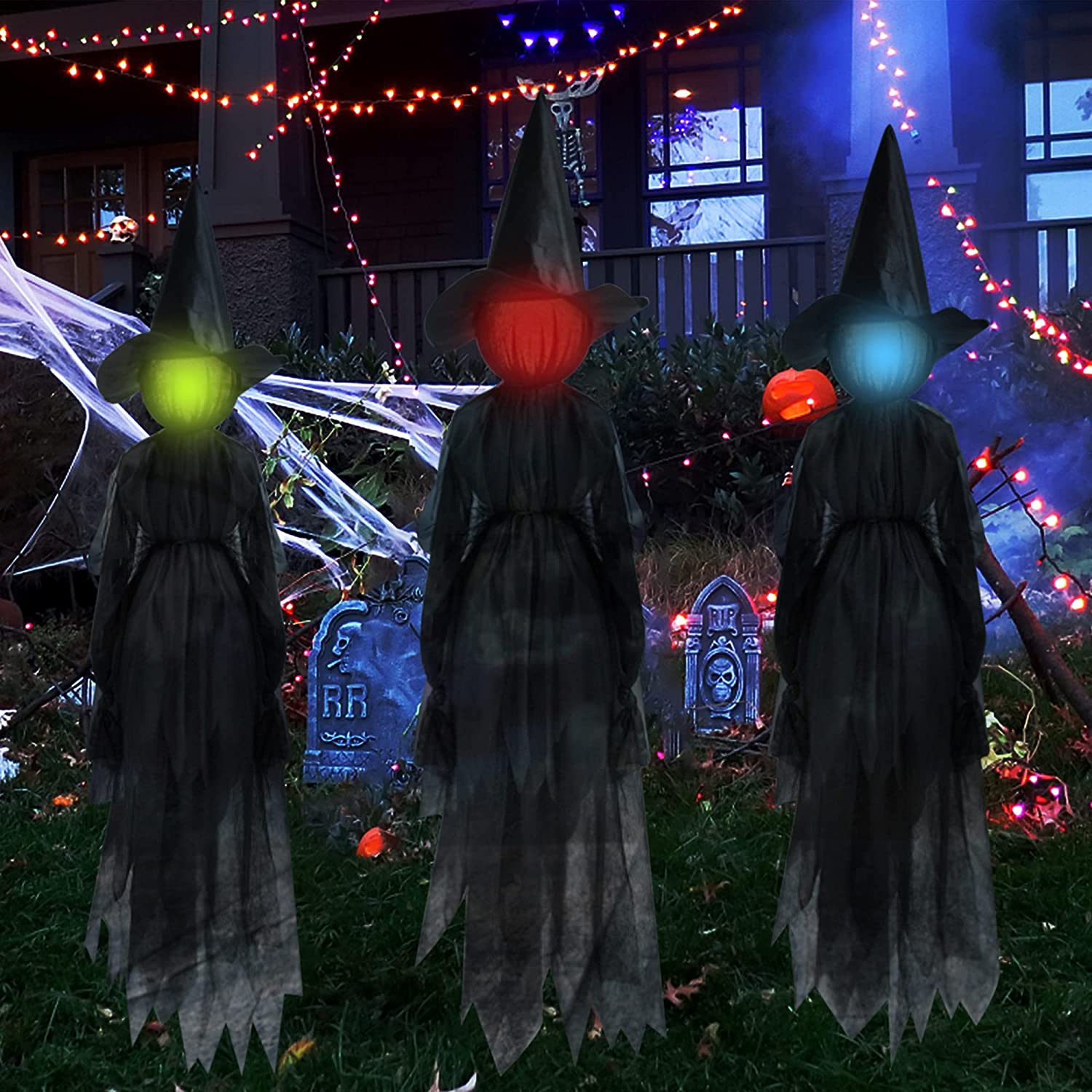 DR.DUDU Luxury goods Dallas Mall Halloween Decorations 6 Ft Set Mu Witch with of Stakes 3