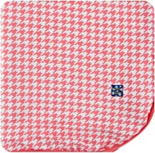 Kickee Pants Little Girls and Boys Print Throw Blanket - English Rose Houndstooth, One Size