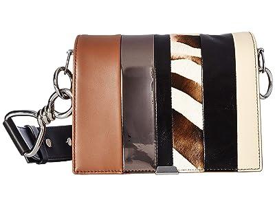 AllSaints Captain Multiflap Shoulder (Brown Stripe) Bags