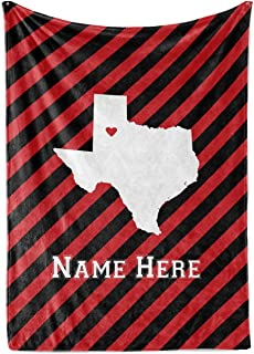 State Pride Series Texas - Personalized Custom Fleece Throw Blankets with Your Family Name - Lubbock Edition