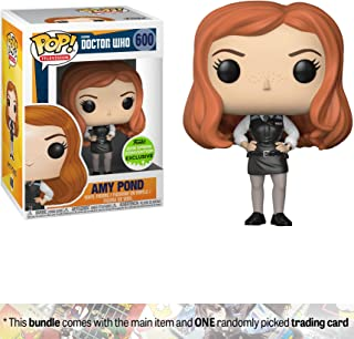 Funko Amy Pond (2018 Spring Con Exclusive) POP! TV x Doctor Who Vinyl Figure + 1 TV Themed Trading Card Bundle
