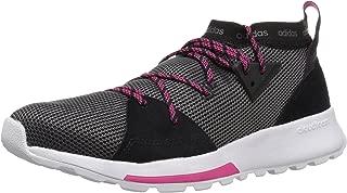 adidas Women's Quesa Running Shoe,  Black/Grey/Shock Pink,  9 M US