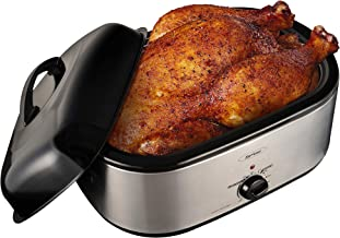 Roaster Oven, 20 Quart Electric Turkey Roaster Oven wit Self-Basting Lid Removable Pan, Full-Range Temperature Control Coo...