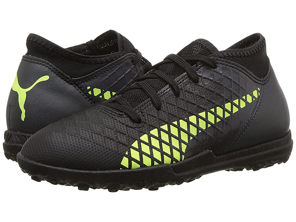 Puma Kids Future 18.4 TT Soccer (Little Kid/Big Kid) (Puma Black/Fizzy Yellow/Asphalt) Kids Shoes
