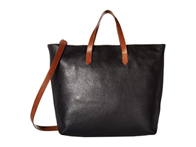 Madewell The Zip Top Transport Carryall (True Black/Brown) Handbags