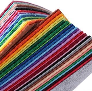 SUPVOX 28 peças de tecido de feltro DIY Craft Costura Quadrados TNT Patchwork para Crianças