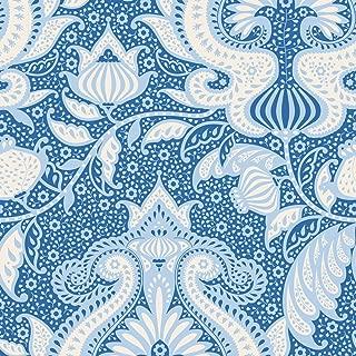 Tilda Sunkiss: Ocean Flower: Blue: by The Metre