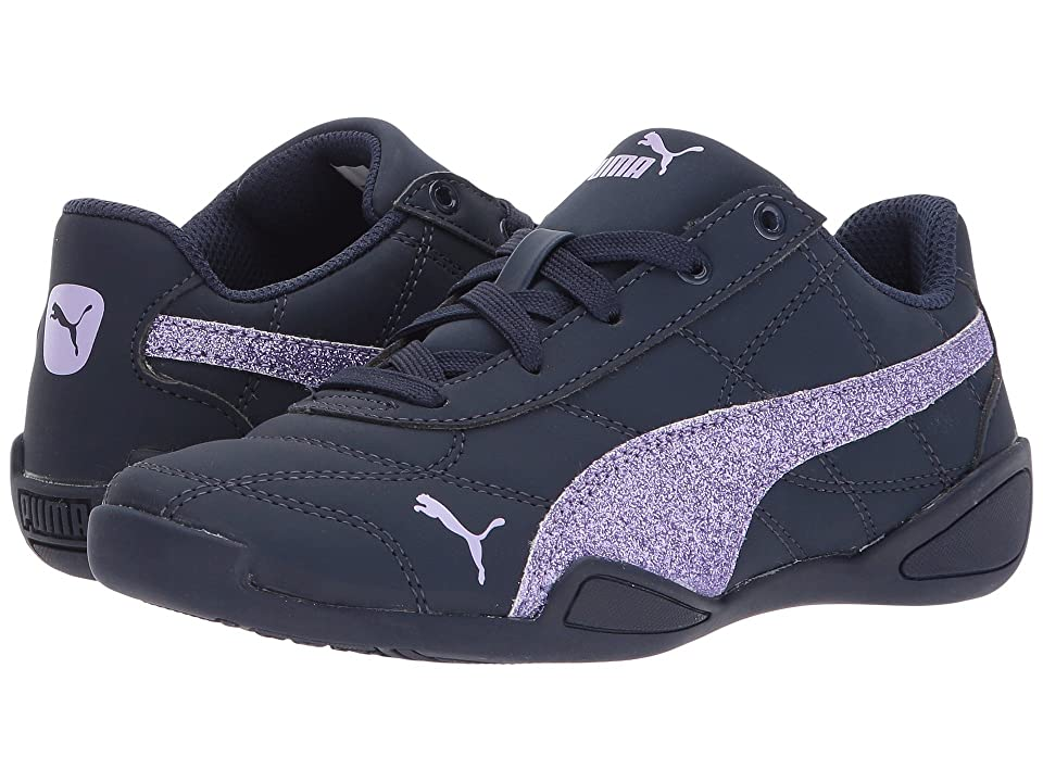 Puma Kids Tune Cat 3 Glam (Little Kid) (Peacoat/Purple Rose) Girls Shoes