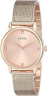 GUESS Women's Stainless Steel Diamond Dial Mesh Bracelet Watch