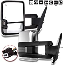 ECCPP fit Chevy Towing Mirrors, GMC Power Heated LED Turn Arrow Signal Lights Reverse Lights Tow Mirrors, for 2008-2013 Chevy Silverado GMC Sierra All Models, 2007 Silverado Sierra New Body Style