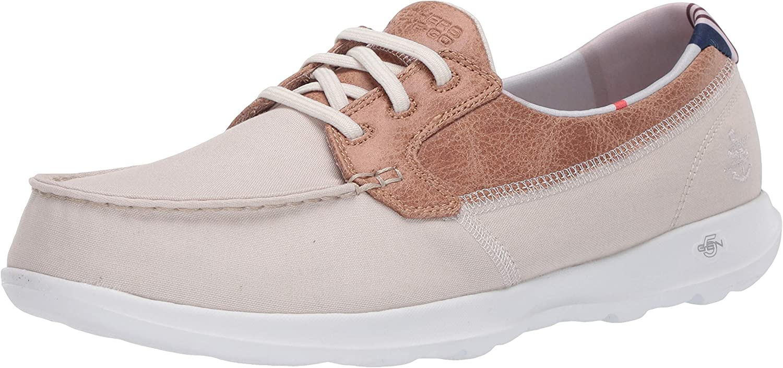 Skechers Women's Go Walk Shoe Lite Textile Boat Dealing full price reduction Gorgeous