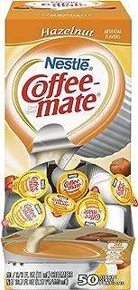 Nestle Coffee-mate Coffee Creamer, Hazelnut, 0.375oz liquid creamer singles, 50 count