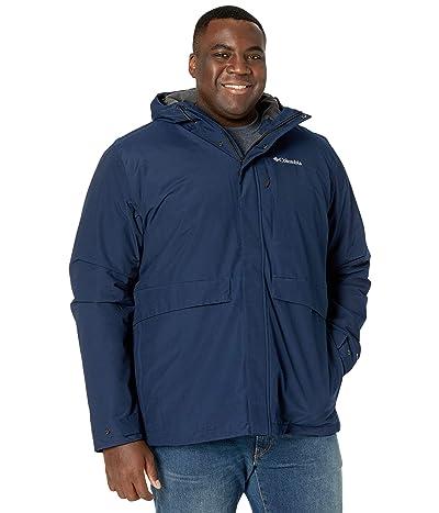 Columbia Big Tall Firwoodtm Jacket (Collegiate Navy/Black Heather) Men