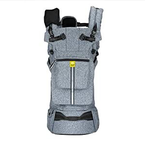 LÍLLÉbaby Pursuit Pro All-Positions Baby Carrier, Newborn to Toddler with Lumbar Support, Heathered Grey
