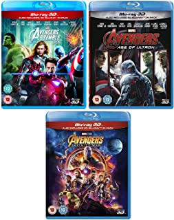 Avengers - (Assemble - Age Of Ultron - Infinity War) - Marvel Complete Avengers (3D + 2D) - 3 Movie Bundling Blu-ray