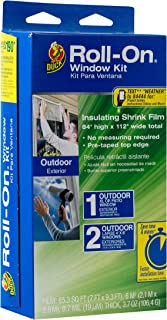 Duck Brand Roll-On Outdoor Extra Large Window/Patio Door Premium Insulating Film Kit, 84-Inch x 112-Inch, 281070