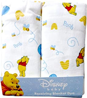 Disney Winnie The Pooh Receiving Blankets. Two Pack of Varied Prints and Styles. Boy 30