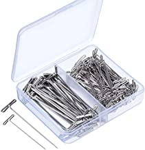 Blulu Steel T-pins for Blocking Knitting, Modelling and Crafts 150 Pieces (2 Inch, 1-1/2 Inch)