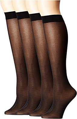 HUE Opaque Knee High 4-Pair Pack