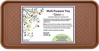 "SassiLeaf Multi-Purpose Tray in Decorator Colors - 30"" L x 15"" W x 1.20"" H - Saddle Brown"