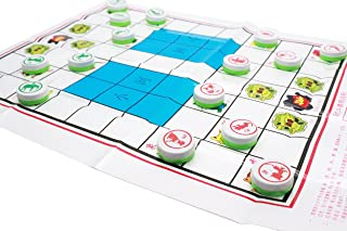 LDEXIN Chinese Chess Xiangqi Plastic Paper Board Jungle Animal Chess Dou Shou Qi Set Simple Parent-Child Game
