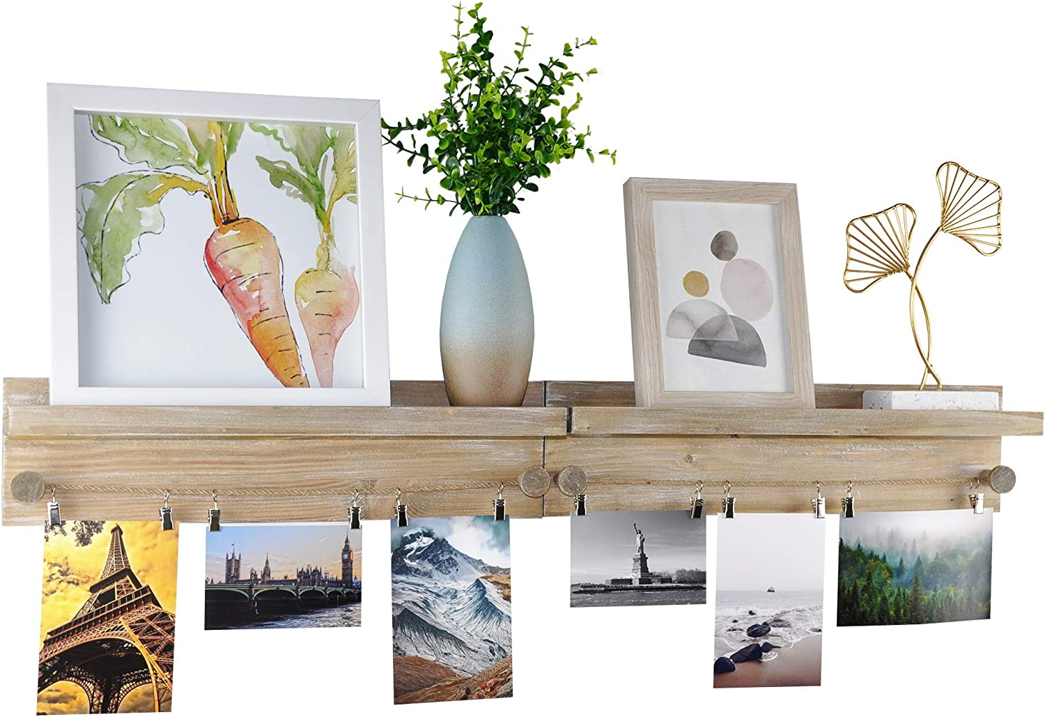 DUCIHBA Set of 2 Wall Selling rankings Mounted Picture Ledge Floating Display Seattle Mall She