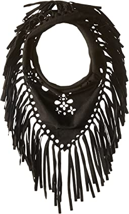 Laser Cut Faux Suede Neckerchief