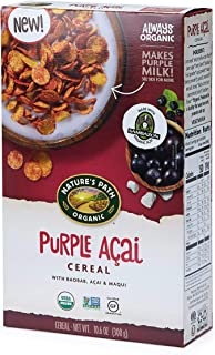 Nature's Path Purple Acai Cereal, Healthy, Organic, Gluten-Free, 10.6 Ounce Box (Pack of 6)