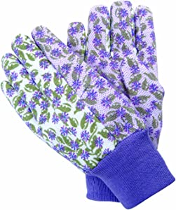 Magid BE188T Bella Floral Print Dotted Jersey Garden Glove