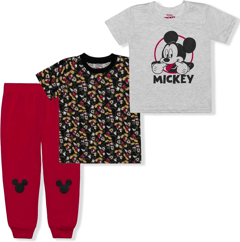 Disney Oklahoma City Mall Mickey Ranking TOP2 Mouse Boy's 3-Piece T-Shirt and Jogger Pant G Set