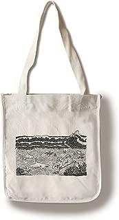 Lantern Press Cape Cod, Massachusetts - Ocean Scene (100% Cotton Tote Bag - Reusable)