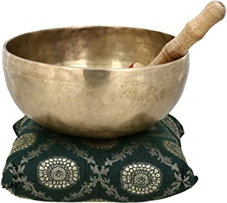 Buddhist Bell Handmade Singing Bowl for Meditation and Healing 8 X 3.75 Inch