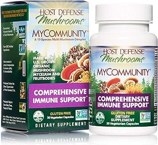 Host Defense, MyCommunity Capsules, Advanced Immune Support, Mushroom Supplement with Lion's Mane, Reishi, Vegan, Organic,...