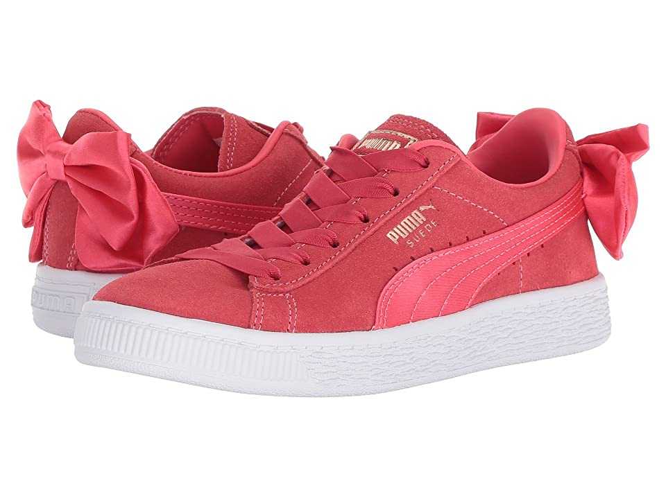 Puma Kids Suede Bow AC PS (Little Kid/Big Kid) (Paradise Pink) Girls Shoes