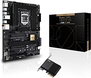 ASUS ProArt Z490-CREATOR 10G Intel Z490 LGA 1200 ATX Content Creation Motherboard (12+2 Power Stages, DDR4 4600, 10G LAN Card, 2.5G Intel LAN, Thunderbolt 3 Type-C, M.2, USB 3.2 Gen 2)
