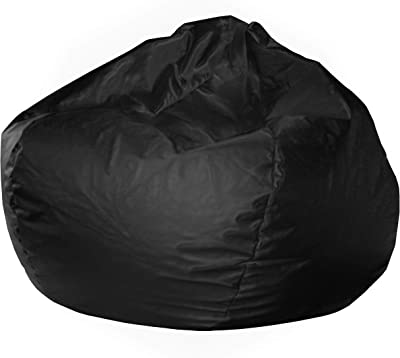 "Gold Medal Bean Bags Gold Medal Large 128"" Black Faux Leather Vinyl Bean Bag"