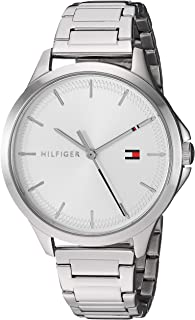 Tommy Hilfiger Women's Quartz Watch with Stainless Steel Strap, Silver, 15 (Model: 1782085)