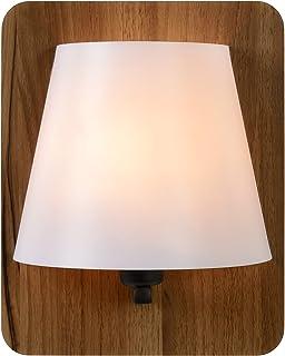 Lucide Idaho–Lámpara de pared de madera, E14, 15W, Wood, 12.5x 12.5x 25cm