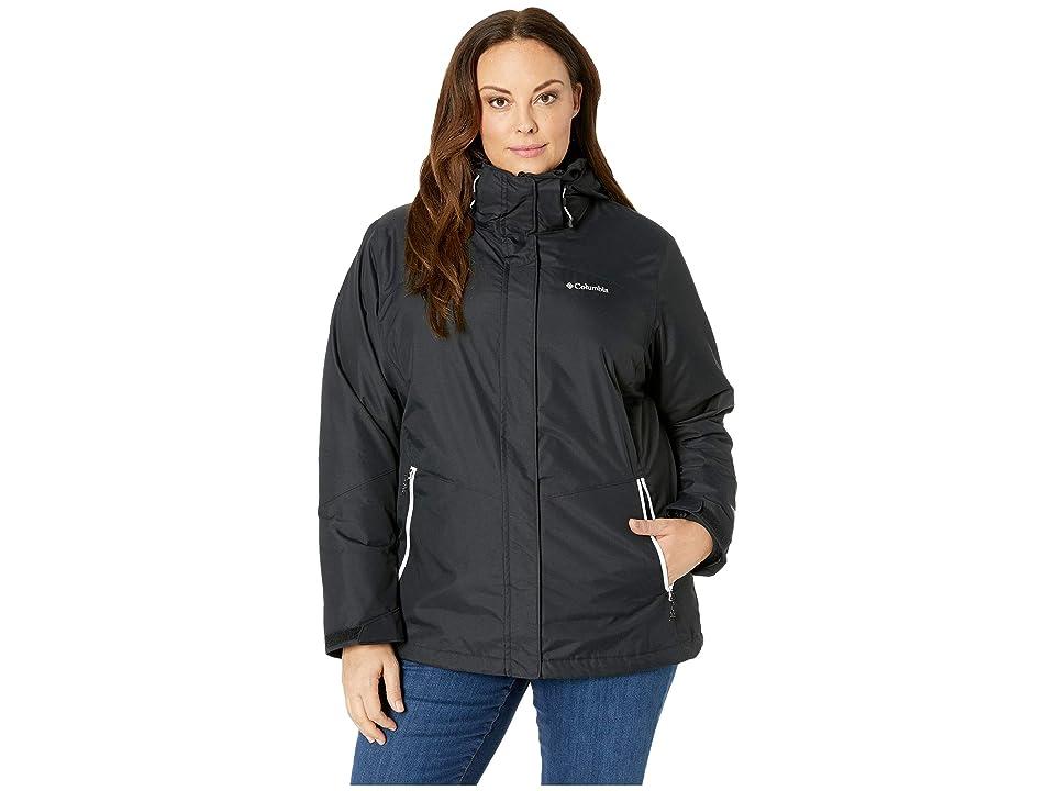 Columbia Plus Size Bugabootm II Fleece Interchange Jacket (Black/White) Women