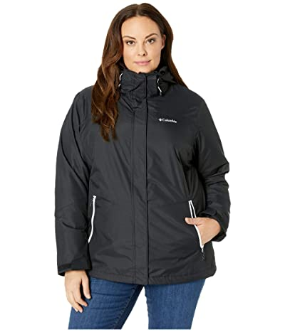 Columbia Plus Size Bugaboo II Fleece Interchange Jacket (Black/White) Women