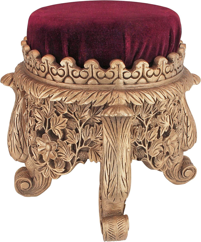 Design Toscano EU33054 Sultan Suleiman The Magnificent Royal Footstool, Brown