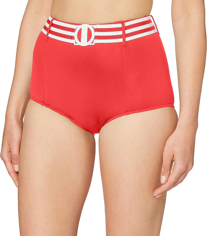 Seafolly Women's Standard Belted High Waisted Bikini Bottom Swimsuit
