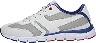 Boras Fashion Sports Goal 5250-0527 Unisex Trainers in Plus Sizes Off White / Navy / Red
