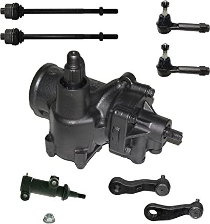8-Piece Suspension/Gearbox Kit - 1 Power Steering Gearbox (reman), 1 Idler Arm (new), 1 Pitman Arm (new), 2 Outer Tie Rod End Links (new), 1 idler arm bracket (new) - Fits 4WD/4x4 ONLY