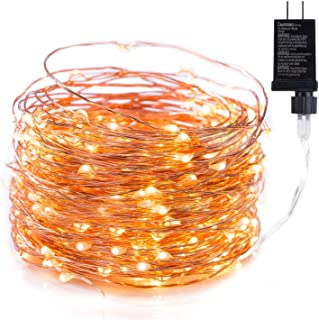 100Ft 300 LED Fairy Lights Waterproof Starry Firefly String Lights Plug in on a Flexible Copper Wire Perfect for Home Christmas Party DIY Wedding Bedroom Indoor Party Decorations, Warm White