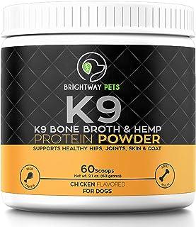 Sponsored Ad - K9 Bone Broth Powder Concentrate Organic Turmeric Hemp Protein – Improves Gut Health, Allergies, Food Sensi...