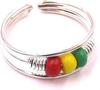 Anello di piede gioielli argento metallo regolabile anello india regolabile perline Rasta Reggae Bob Marley