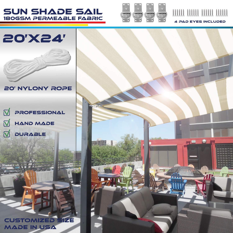 Windscreen4less - Toldo rectangular de 20 x 30 cm, resistente a los rayos UV, toldo para patio o al aire libre – personalizable: Amazon.es: Jardín