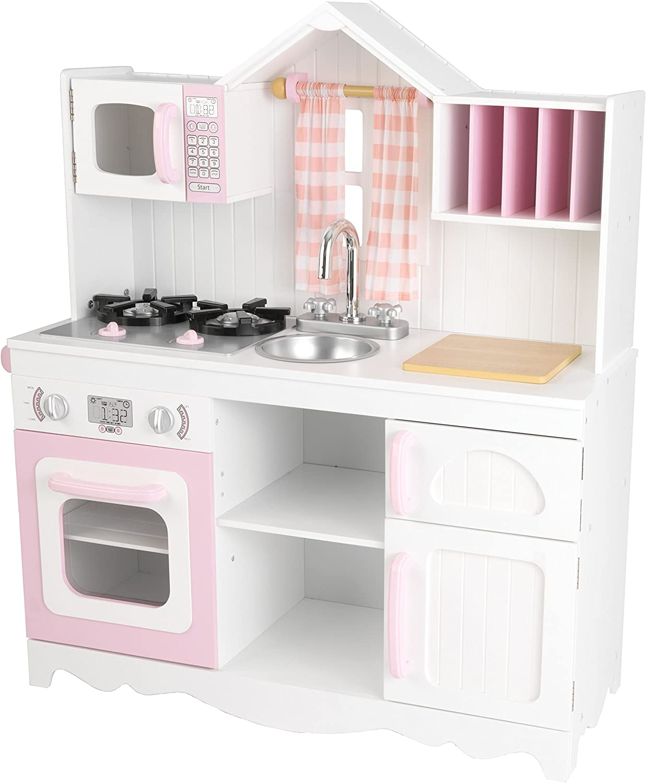 Kidkraft 53222 Moderne Country Spielkuche Rosa Und Weiss Exklusiv Bei Amazon Amazon De Spielzeug